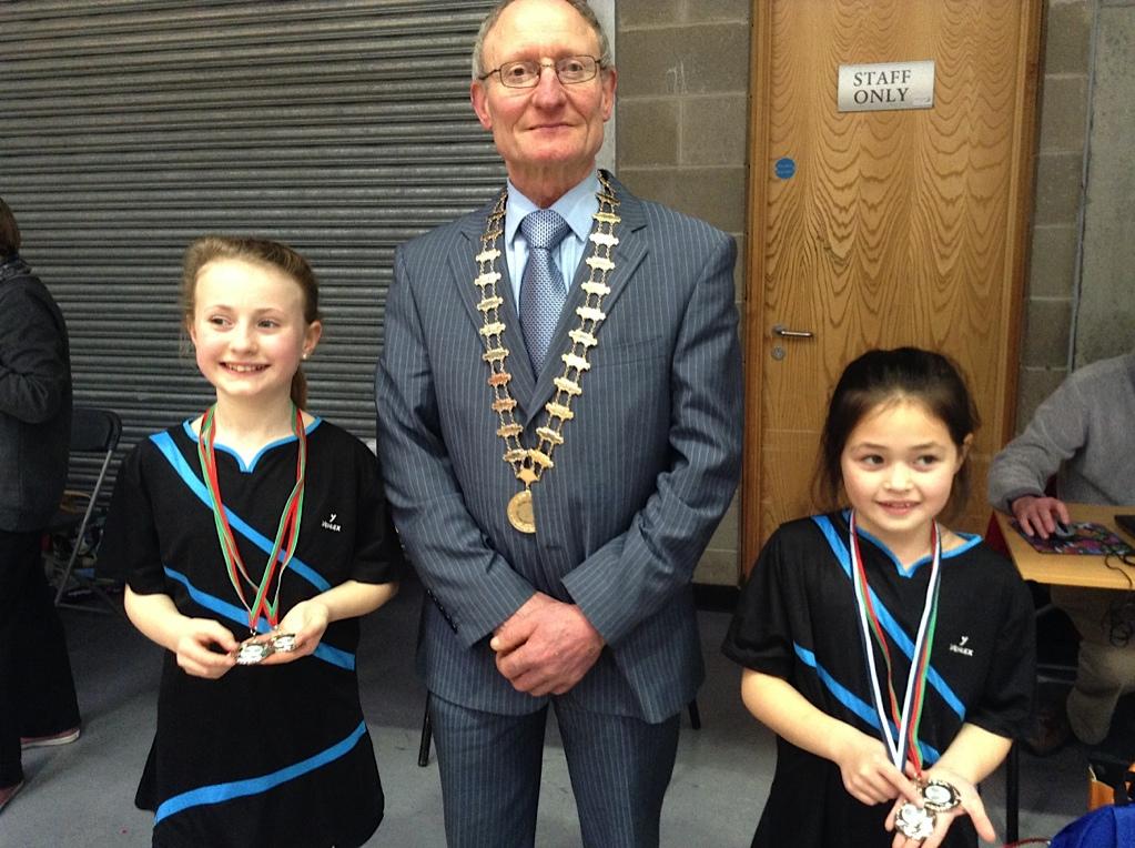 Aoife O'Driscoll  & Lucy O'HalloranDiv 2 U11 Girls Munster Champions