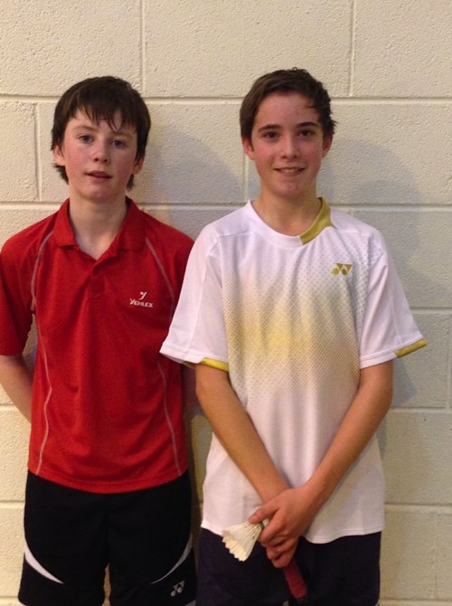 Frank Toebes Runner uo  & Adam Barry Champion of U13 Cork