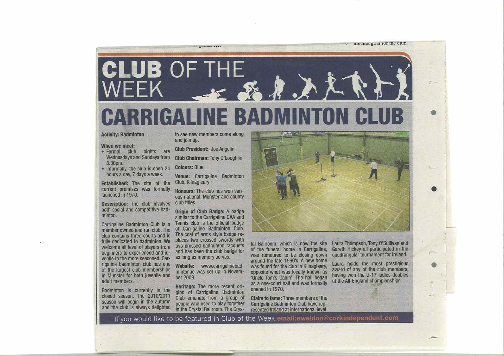 Cork Independent Club of the Week